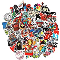 100 Pieces Set Cool Stickers Waterproof Vinyl Stickers For Laptop car Snowboard Motorcycle Bicycle Phone Mac Computer…