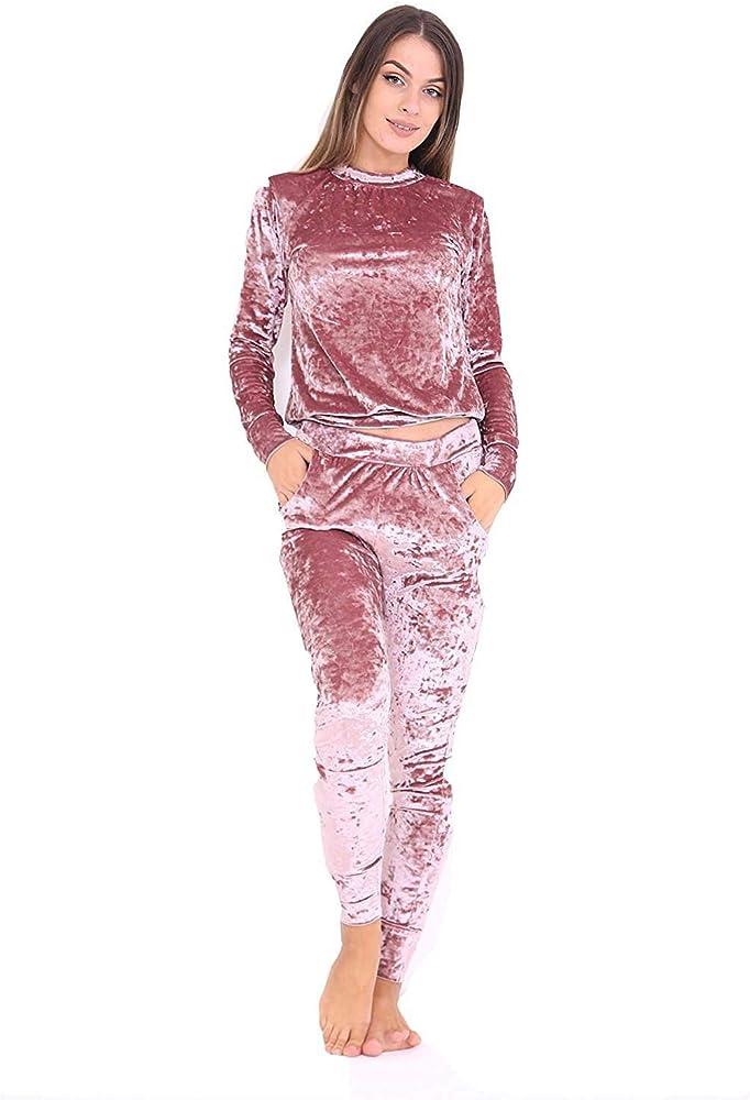 Fashion 24/7 - Chándal - para Mujer Beige Oro Rosa XXX-Large (52 ...