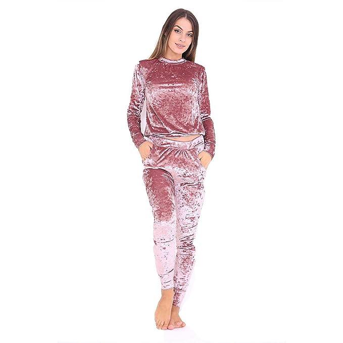7d5546f0a678 Fashion 24/7 - Tuta da Ginnastica - Donna Rose Gold M/L (48-50 ...