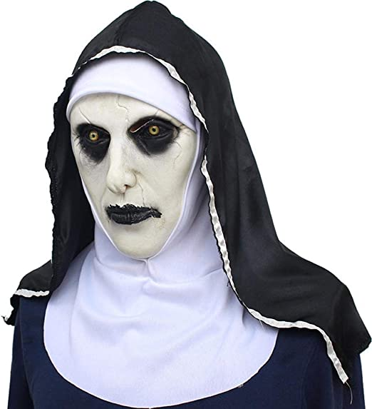 Meetforyou Horror Scary Full Head Mask Monja Máscara Asustada ...