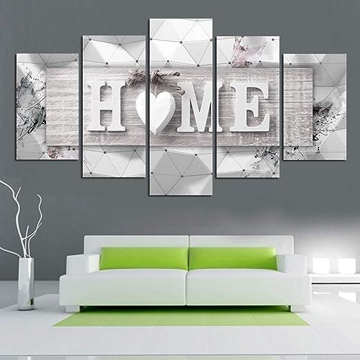 5Pcs Wall Painting Canvas Prints Modern Wall Art Craft Decoration Home Decor