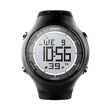 EZON L008 - Reloj de Pulsera Deportivo Digital para Hombre, con cronómetro, Ultrafino: Amazon.es: Deportes y aire libre