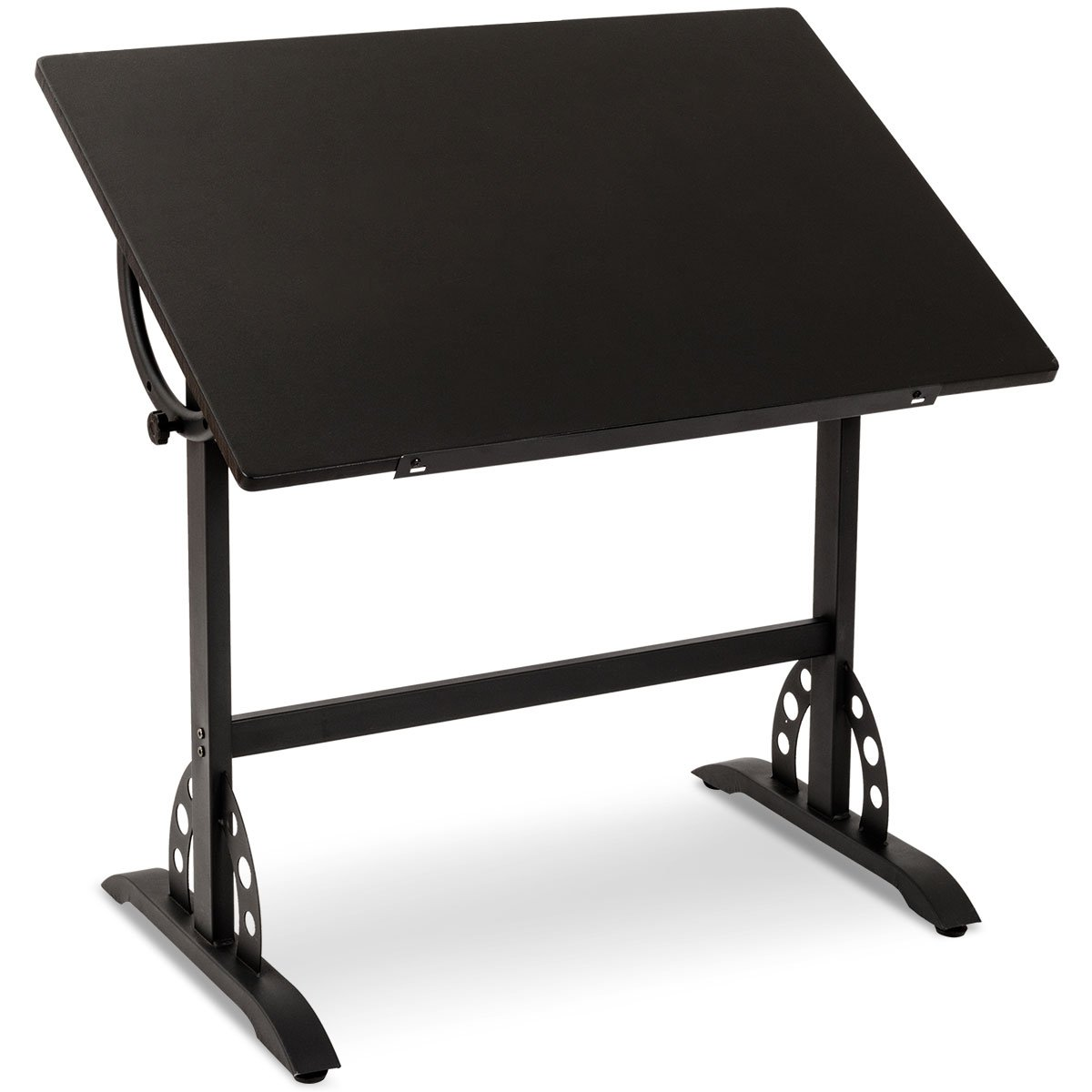 Tangkula Adjustable Drawing Desk Art & Craft Drafting Table Craft Station Chic Multi-Functional Paint, Study, Write Table, Black