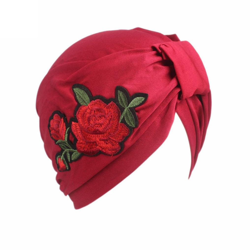 Compia Women Turban Hijab Ladies Boho Cancer Hat Beanie Scarf Head Wrap Cap
