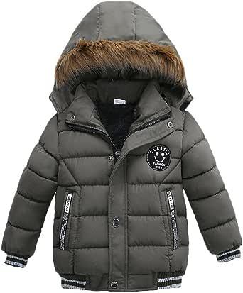 K-youth® Ropa Niño Invierno Sudadera con Capucha Abrigo De Algodón Engrosamiento Chaqueta