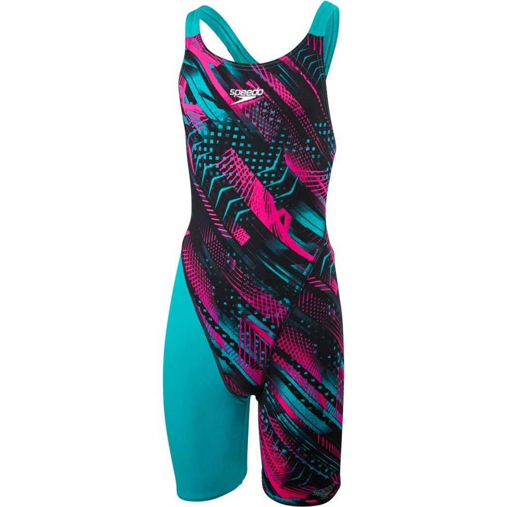 Speedo Girls' Fastskin Endurance+ Openback Kneeskin Swimsuit 8-09732B453