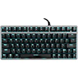 Velocifire Tenkeyless Mechanical Keyboard Mini, 78-Key Compact Ergonomic, Outemu Brown Switches Backlit and Double-Shot ABS K