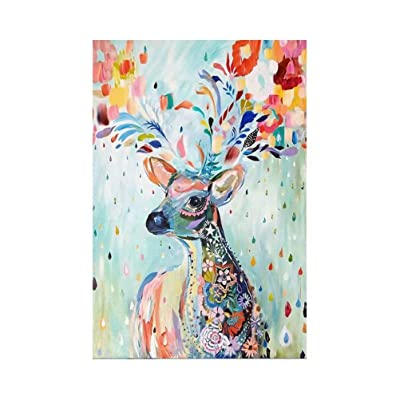 Swiland Jigsaw Puzzles 1000 Pieces for Adults Children Puzzle Game Fantasy Stag Deer Painting Interesting Toys Landscape Puzzles Work from Home Entertainment: Toys & Games