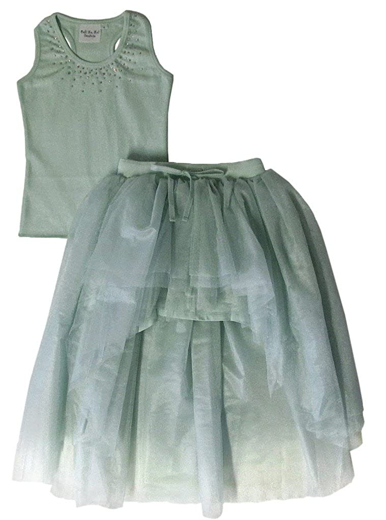 Ooh la la Couture Girls Swarovski Hi Lo Skirt Set 8 Mint