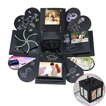 FOGAWA DIY Photo Explosion Gift Box Love Birthday Anniversary Handmade Kit Wedding Material Exploding