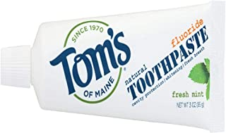 product image for Tom's of Maine, Travel Size Anticavity Toothpaste - Fresh Mint, 3 Ounce