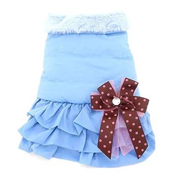 Abrigo de invierno para mascotas Smalllee Lucky Store, vestido con tablas falta tutú para perro pequeño, chaqueta de tela polar, ropa de línea para ...