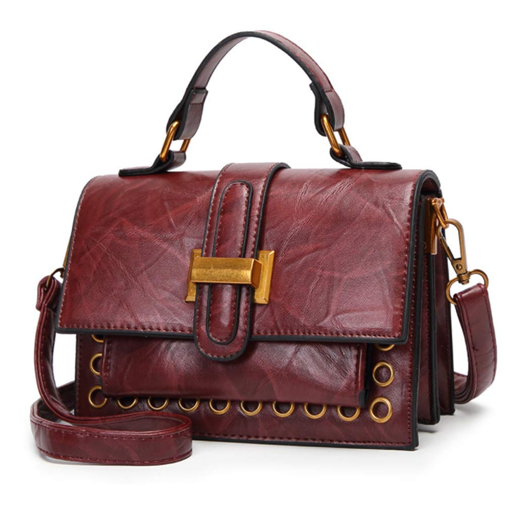 26d1e02f844d Small Square Crossbody Bag for Women PU Leather Ladies Handbags Shoulder Bag  (wine red)  Handbags  Amazon.com