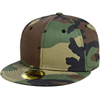 New Era Allover Woodland Camo Blanc Blank 59fifty 5950 Fitted Cap Kappe Men