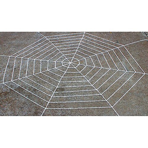 Smartcoco Black and White 59inch 142inch Plush Stretching Spider Web Halloween Props Scary Decoration