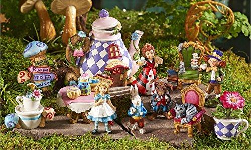 Alice in Wonderland Miniature Figurines FULL SET Alice Rabbit Fantasy Mini New