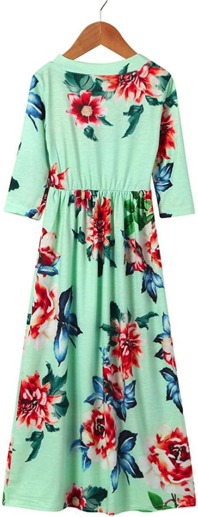 Memela Baby Clothes,Toddler Kids Baby Girl Flower Rose Denim Long Sleeve Princess Dress Outfits