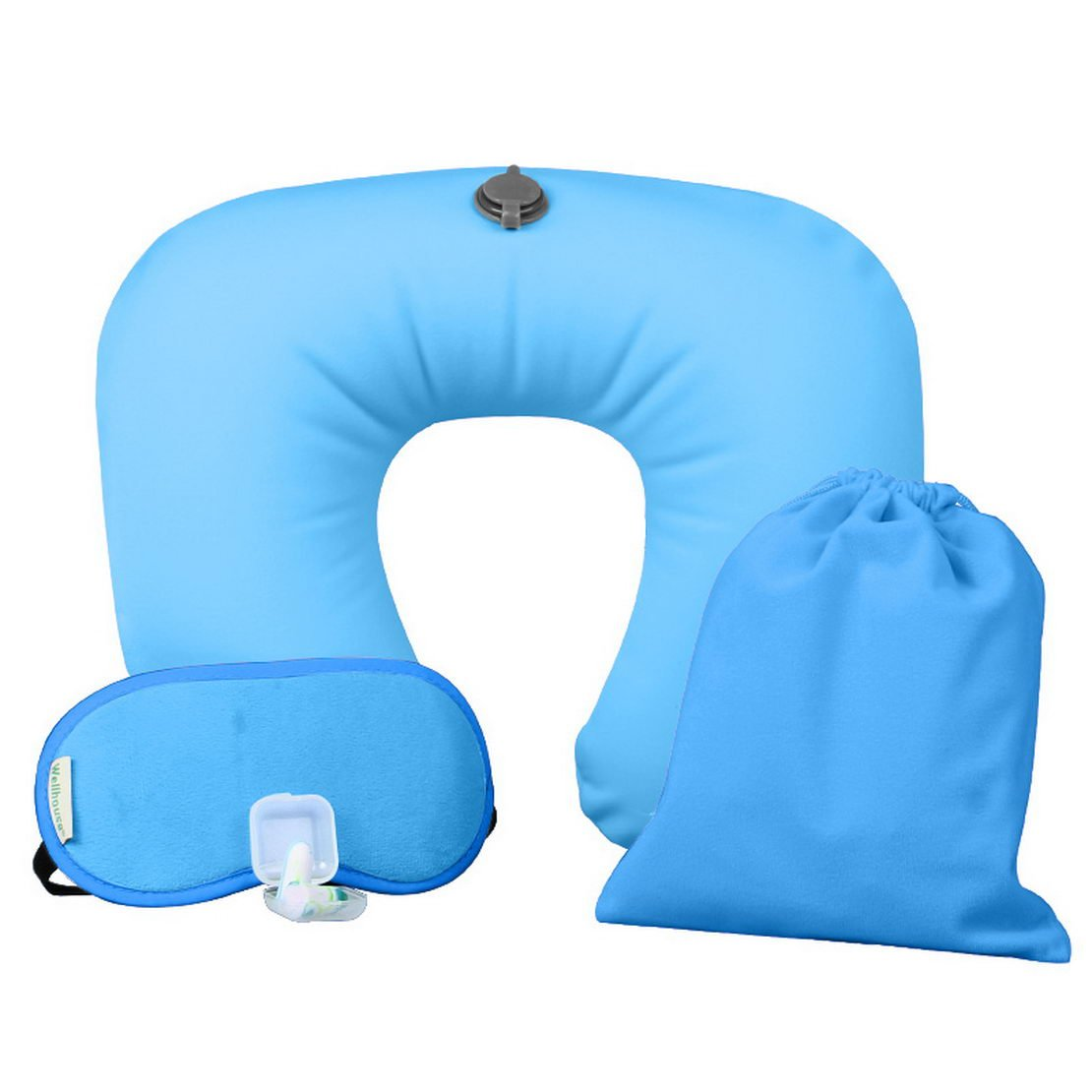 donfohy U-shaped inflatable travel pillow travel pillow airplane outdoor tourism neck neck pillow ice silk-type summer and winter by donfohy