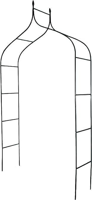 defacto DF-008C - Arco para rosales (255 x 140 x 38 cm, metal ...