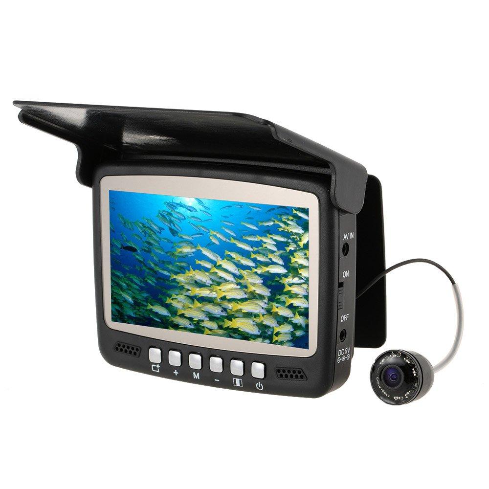 Lixada 4.3'' Digital Color TFT Monitor 8 Infrared LED 800TVL HD Underwater Fishing Camera 15M Cable Fish Finder Night Vision