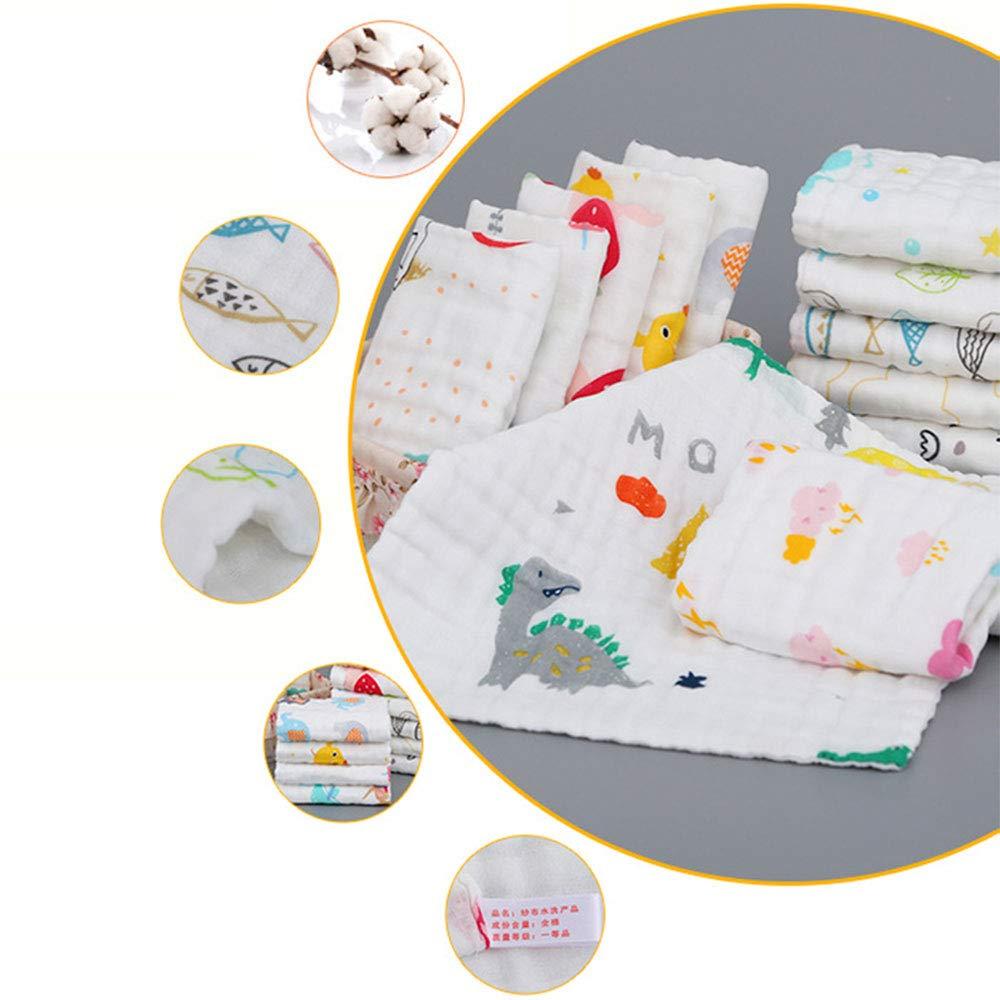 Baby Waschlappen Gaze Taschentuch Extraweich atmungsaktiv 6 Lagen 100/% Baumwolle Musselin Waschlappen Neugeborenes Geschenk Baby Gesichtstuch T/ücher 30x30cm 6er Pack Geeignet f/ür Kinder von 0-6 Jahren