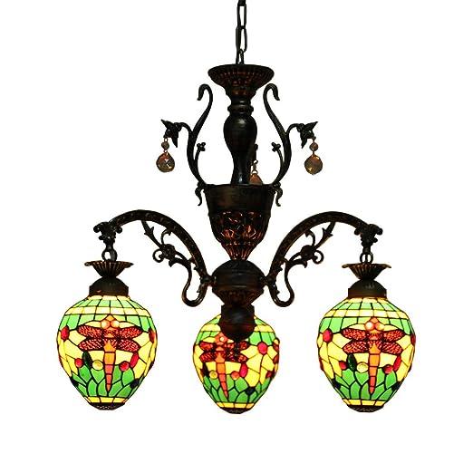 Amazon.com: Makenier clásico Estilo Tiffany vidrieras 3 ...