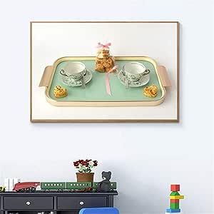 tzxdbh Estilo nórdico Restaurante Obra de Arte Donuts Comida ...