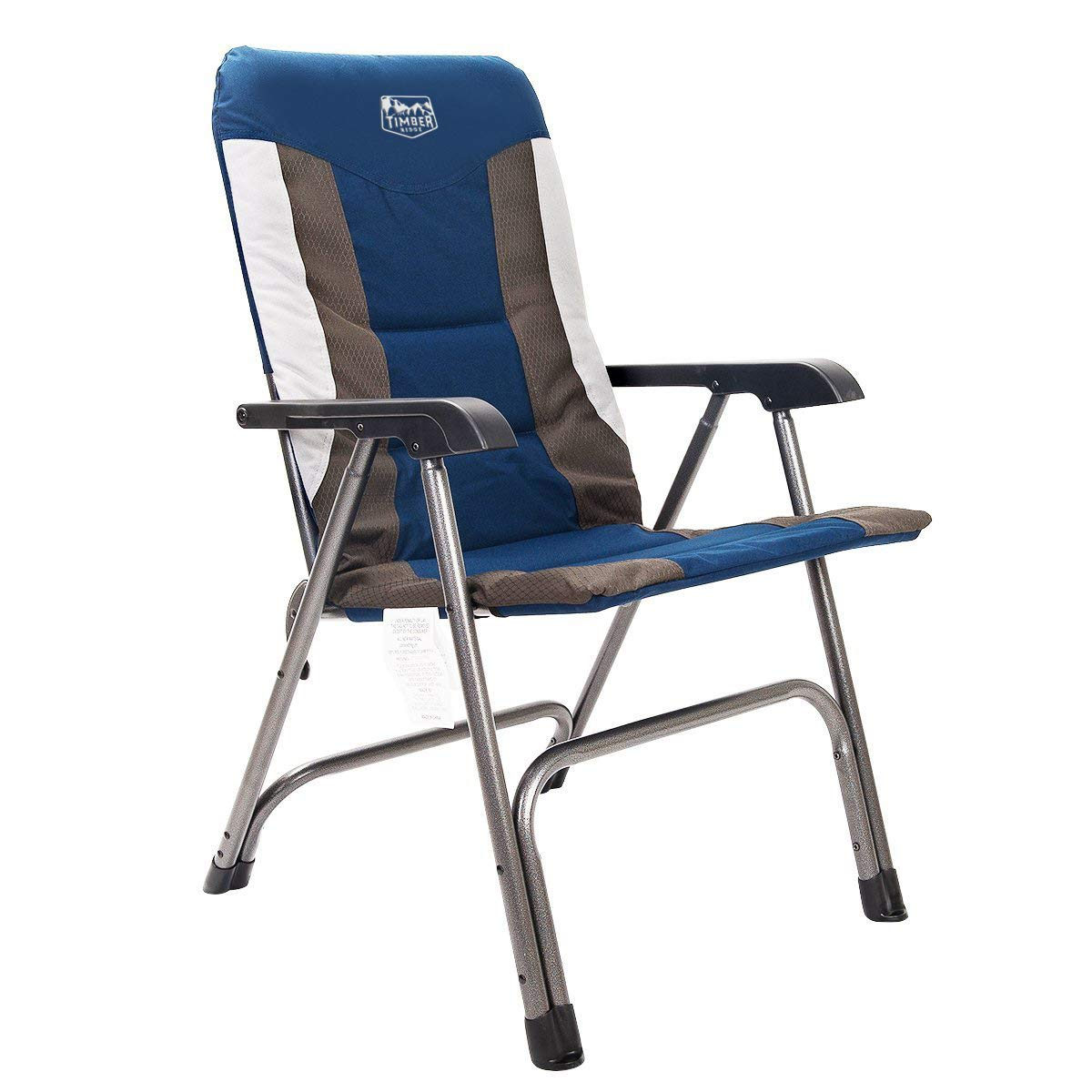 High Back Folding Lawn Chairs.Timber Ridge Camping Folding Chair High Back Portable With Carry Bag Arm Chair Easy Set Up Padded For Outdoor Lawn Garden Lightweight Aluminum