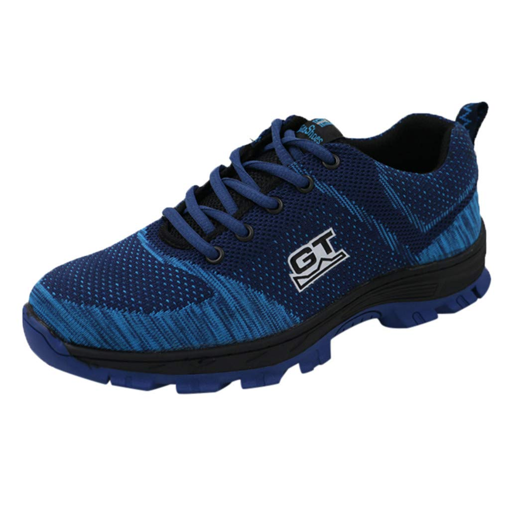 Men Women Work Safety Shoes - Couple Anti Puncture Wear Resistant Shoe Mesh Breathable Industrial & Construction Sneakers