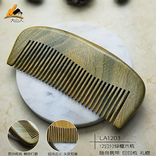 GuiXinWeiHeng (3pcs) Green sandalwood comb comb comb by GuiXinWeiHeng