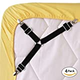 Amazon Price History for:Bed Sheet Fasteners, 4 PCS Adjustable Triangle Elastic Suspenders Gripper Holder Straps Clip for Bed Sheets,Mattress Covers, Sofa Cushion (4 Pack-Short)