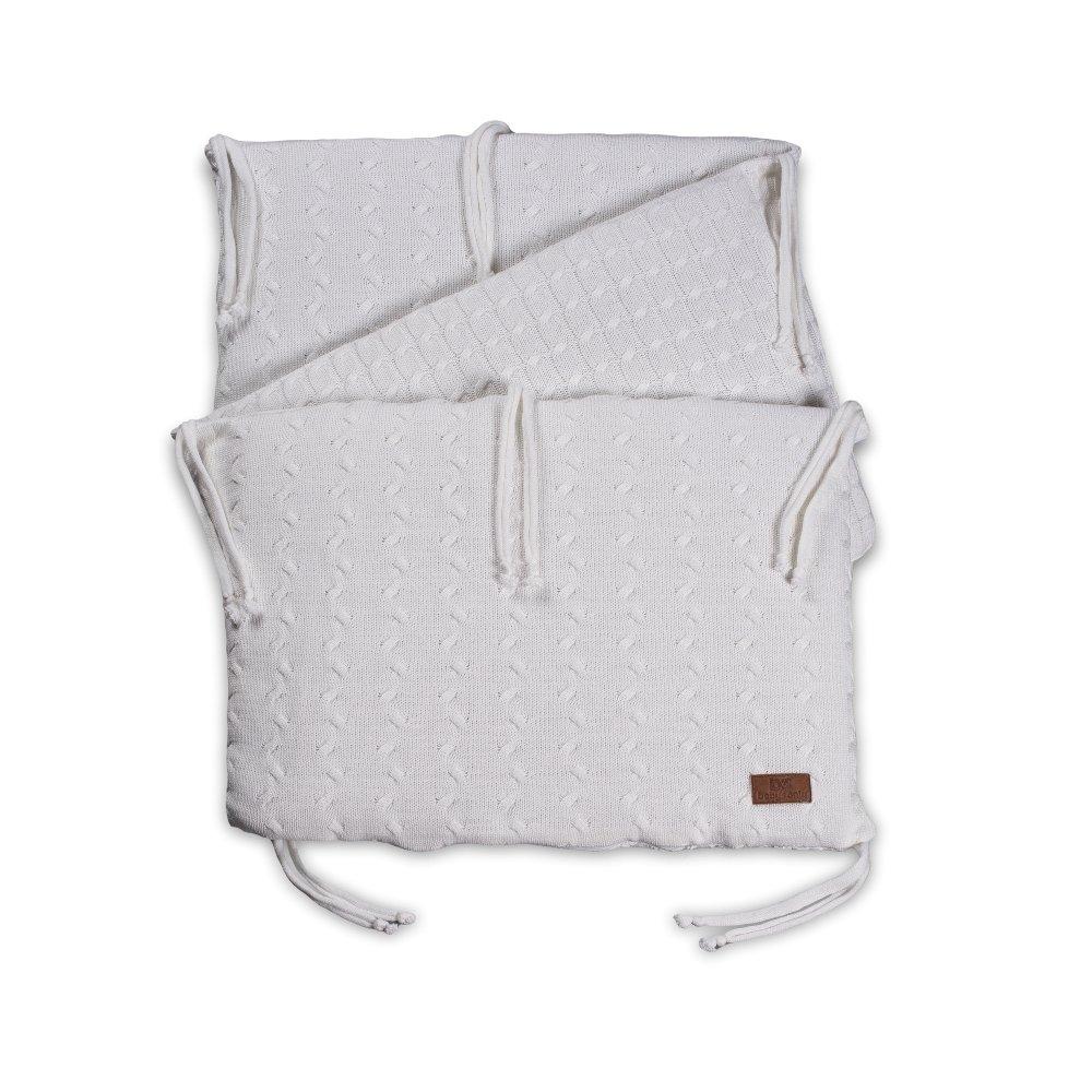 Baby's Only 134219 Bettnest Zopf Uni gestrickt - für Bettbreiten 60-70 cm, weiß