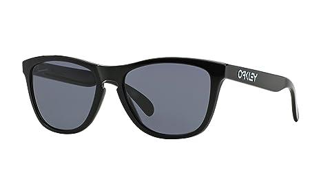 47794792fd Oakley Frogskins - Gafas de sol para hombre, color negro pulido, lenti  gris, talla 55: Amazon.es: Ropa y accesorios