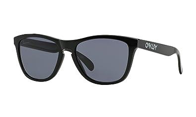 Amazon.com  Oakley Frogskins 24-306 Sunglasses Polished Black Grey ... 0c44b37a4bce