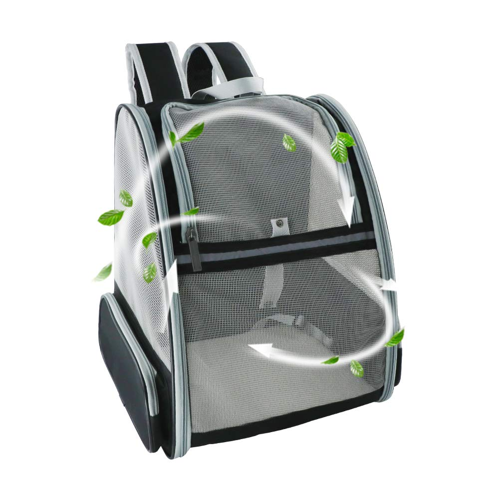 DILISENS Traveler Pet Backpack Comfort Portable Carriers Hold Cats and Dogs Up to 25 LB, Go for Walk, Hiking and Cycling
