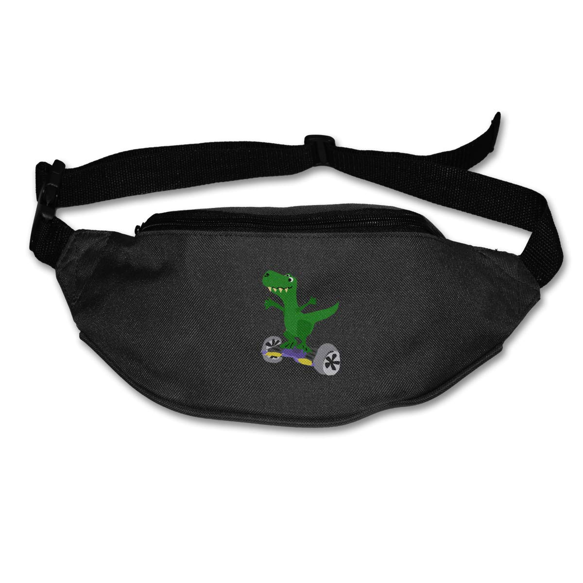 Dinosaur On Hoverboard Sport Waist Packs Fanny Pack Adjustable For Travel
