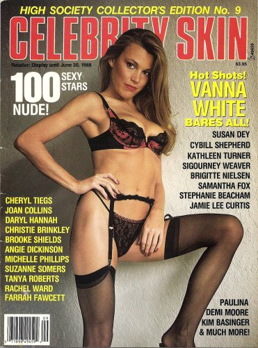 Celebrity Skin Magazine Special   9 Farrah Fawcett  Vanna White  Samantha Fox  Jamie Lee Curis  Cherly Tiegs
