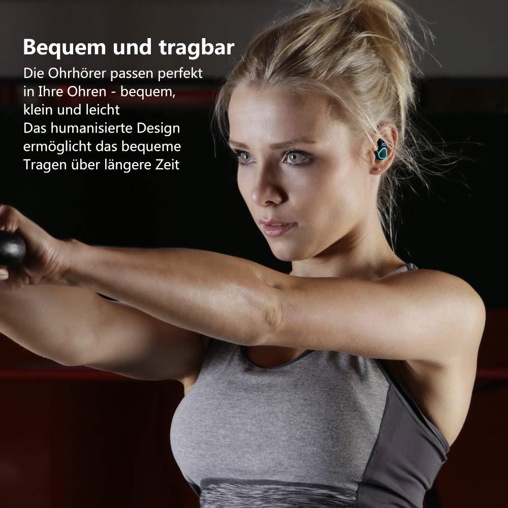 Veroyi TWS-E9 Bluetooth 5.0 Drahtlose In-Ear-Ohrhörer Echte Wireless-Stereo-Kopfhörer mit HiFi-Bass