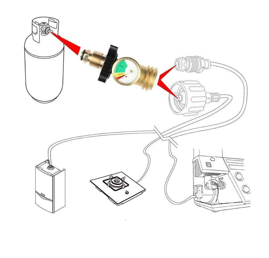 Propane Tank Gauge Level Indicator Leak Detector Gas Pressure Meter Rv Monitor Wiring Diagram Universal For Bbq Grillcylinderrv