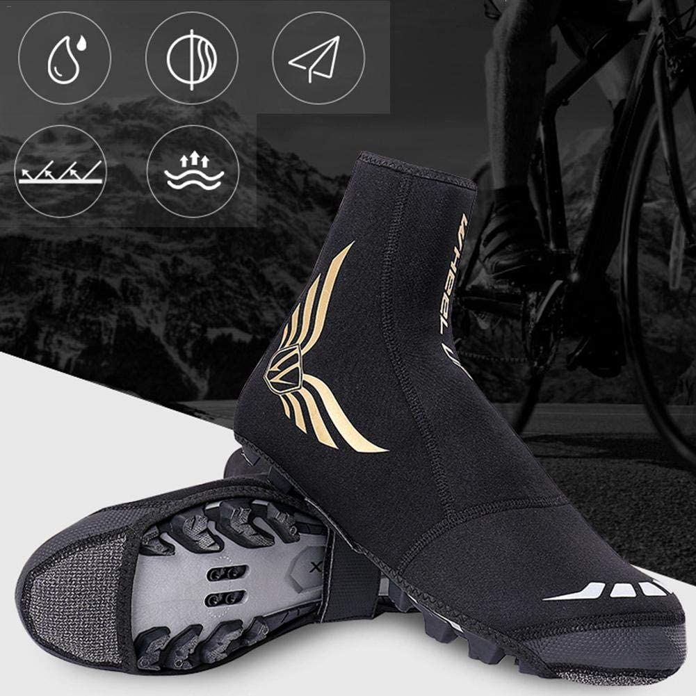 Cycling Overshoes Thicken Thermal Waterproof Windproof Rain Snow Boot Protector Overshoes With Reflective Design For MTB Road Bicycle Mountain Road Bike Shoes TARTIERY Bike Bicycle Shoe Covers