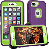 iPhone 8 Plus Case,iPhone 7 Plus Case,iPhone 6Plus Case,FOGEEK[Dust-Proof]Belt-Clip Heavy Duty Kickstand Cover[Shockproof] PC+TPU for Apple iPhone 7 Plus,iPhone 6/6s Plus(Purple and Green)