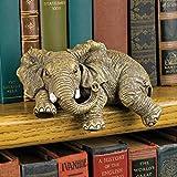 Design Toscano Ernie the Elephant Shelf Sitter Sculpture (Set of 2)