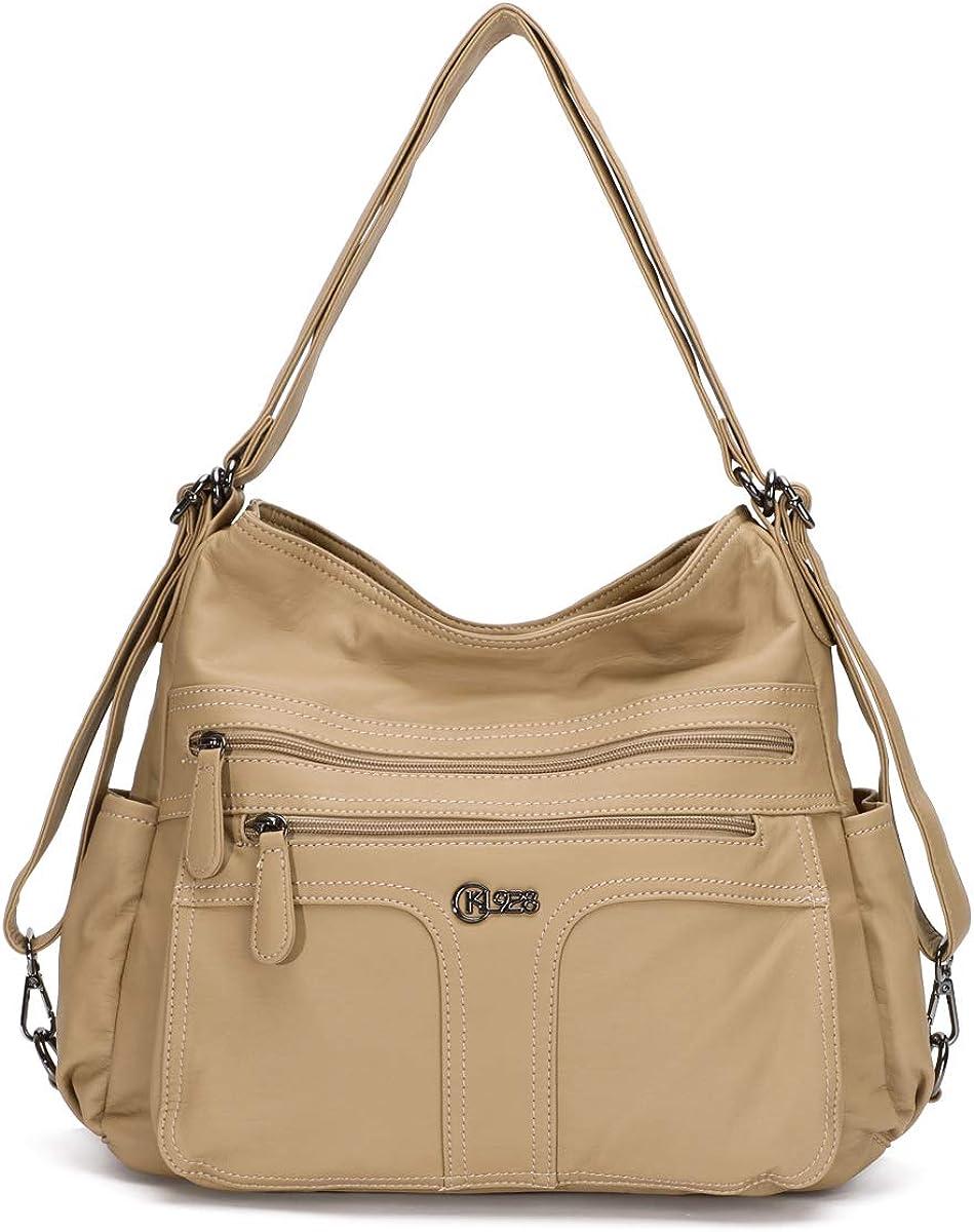 Amazon.com: KL928 Womens Purses and Handbags Waterproof Hobo Bags for Women  (w-Beige): Shoes