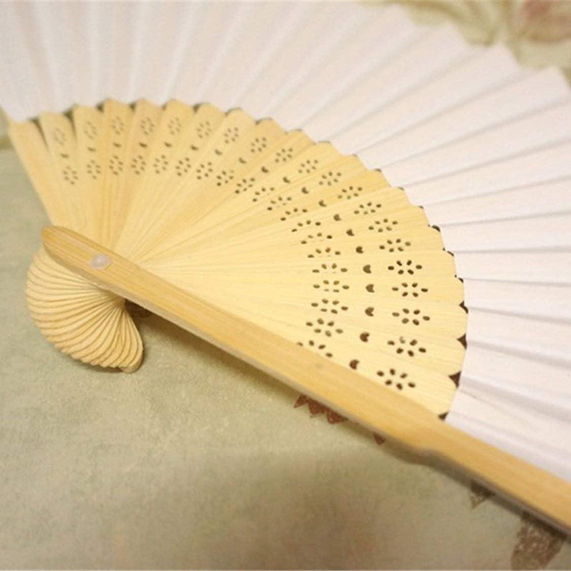 Ventilateur pliable style chinois ventilateur /ét/é voyage en plein air ventilateurs de refroidissement Ventilateur pliant universels ventilateurs d/écoratifs Home Decor beige