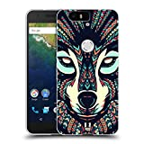 Head Case Designs Wolf Aztec Animal Faces 3 Soft Gel Case for Huawei Nexus 6P