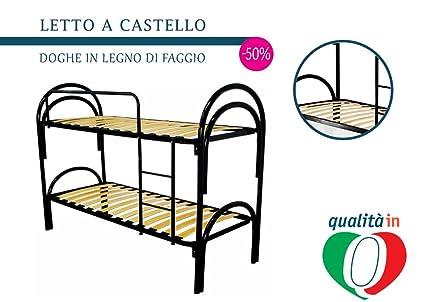 InMaterassi - Letti a castello in ferro nero scomponibili, 100% made ...