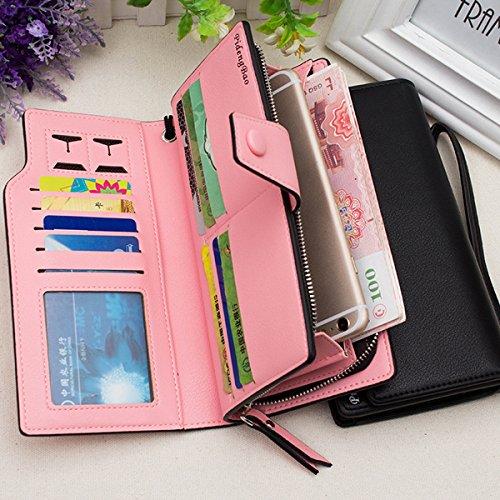 Pochette Violet Portable Cuir Crédit Téléphone PU inch Femmes Carte Titulaires TENGGO Pochette Pochette De De 11 6 Rouge FHWTqwZ