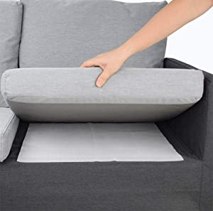 Non Slip Cushion Pad, Double Sided Anti-Slip Rubber for Reduce Couch Cushions Sliding (24 x 24 inch)- (1 Pack)