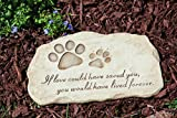 Evergreen Enterprises Dog Paw Print Devotion Garden Stone