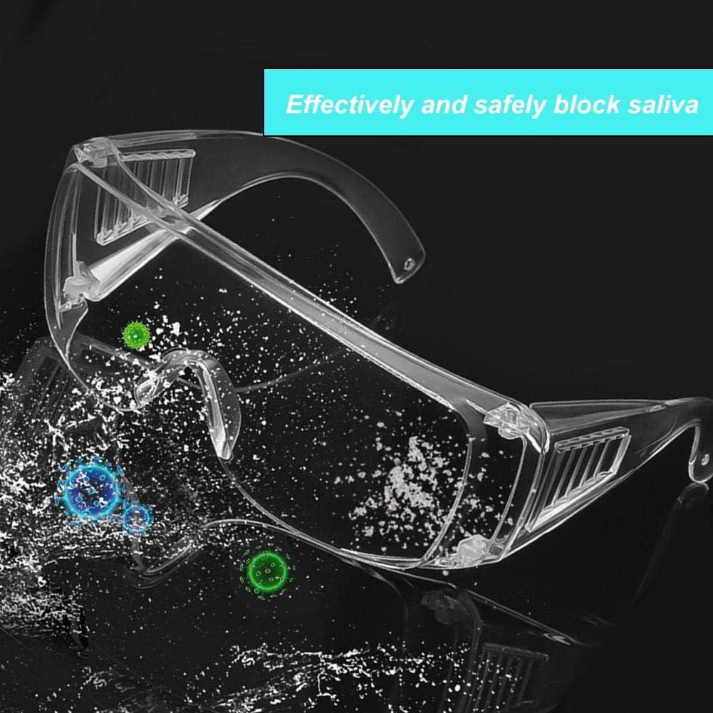 Fdit 2 Piezas de Gafas Protectoras Transparentes a Prueba de Polvo Gafas a Prueba de Arena Gafas Protectoras de Trabajo para Detener la Saliva